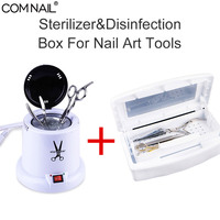 Sterilizer With Glass Ball&Disinfection Box Set High Temperature For Steel Metal Nipper Tool Dry Heat For Nail Art Manicure Tool|Nail Art Equipment|   -