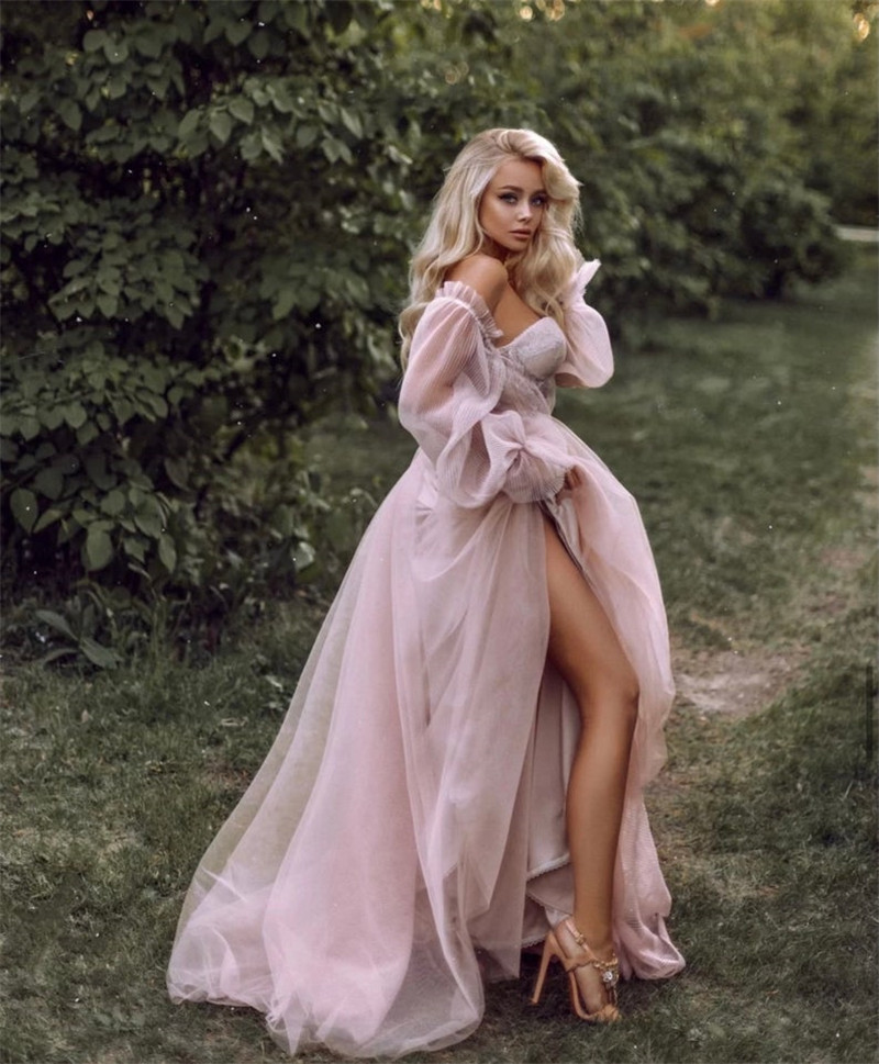 Eightree Pink Wedding Dresses  Plus Size Wedding Gowns 4