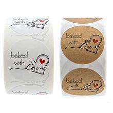 1 дюйм запеченная с круглым любви наклейками 500 наклеек в рулоне милый для уплотнения наклейки скрапбукинг школьные принадлежности