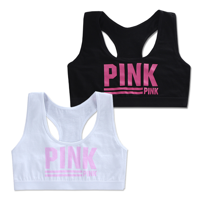 2Pc/Lot Teen Girl Sports Bra Kids Top Camisole Underwear Young Puberty Small Training Bra 8-14years 1