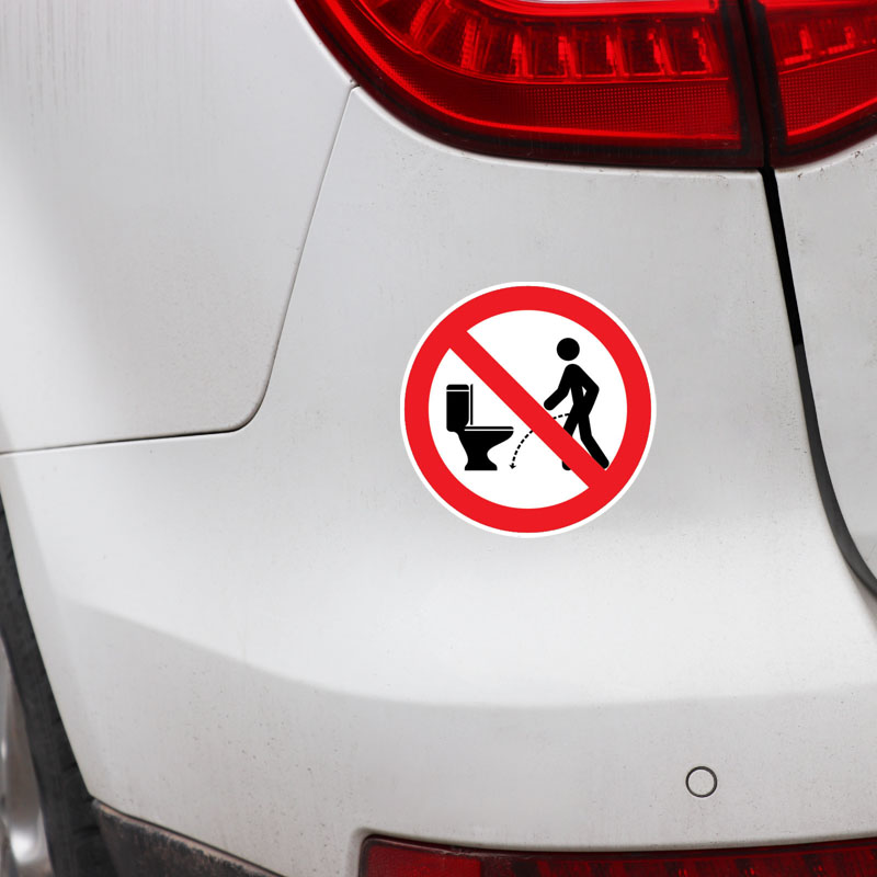 Image 3 - YJZT 11.5CM*11.5CM Warning NO Hit The Toilet Car Sticker PVC Decal 12 1469-in Car Stickers from Automobiles & Motorcycles