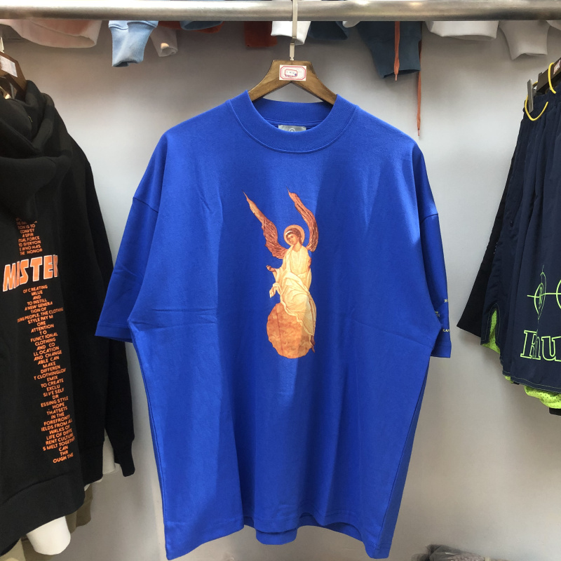 2020 JESUS IS KING T-shirt Kanye West T-shirts New Songs Angel Logo Print JESUS IS KING Tee Streetwear