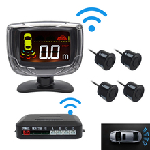 Car wireless wifi connection parking sensor parktronicy 4 parking sensor for car LCD display reversing auxiliary buzzer alarm