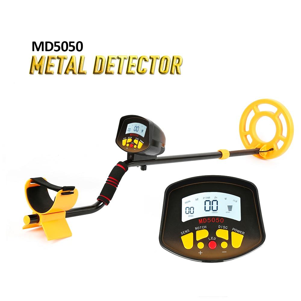 MD5050 металлоискатель Легкая установка подземный детектор золота Высокая чувствительность Pinpointer ювелирные изделия Золото Металлоискатель
