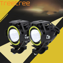 2Pcs/pair Angel Eye Headlights U7 Motorcycle LED Lights Super Bright Waterproof Laser Cannons u7 Spotlights(China)