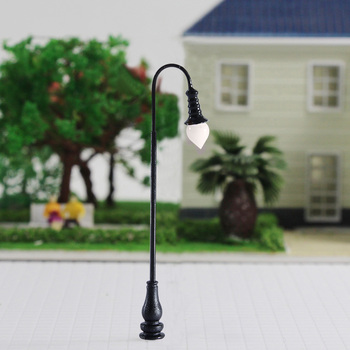 8cm high 3v Led metal garden lamp for Model train railway building architecture scenery layout 30pcs model railway train lamp led 3v street lamppost 7cm ho oo scale for park scenery decoration