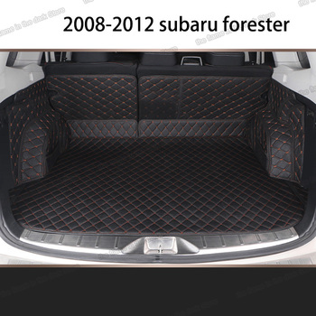 Lsrtw2017 Leather Car Trunk Mat Cargo Liner for Subaru Forester 2008 2009 2010 2011 2012 SH Rug Carpet Interior Accessories