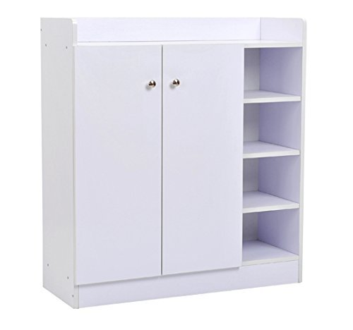 HOMCOM Shoe Rack Shelf For Shoes Entrance Hallway 83x30x90 Cm White
