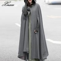 2019 Plus Size Xnxee Autumn Batwing Party Jackets Hooded Hoodie Capes Thin Women Winter Long Coat Jacket Cloak Poncho Cardigan