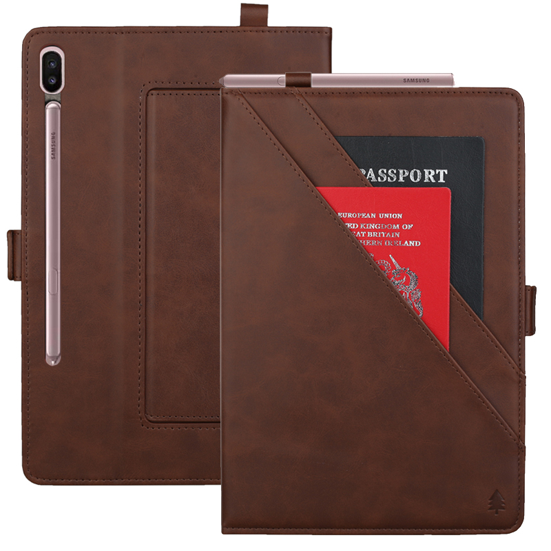 Multifunction Double Stand Leather Case for Samsung Galaxy Tab S6 10.5 T860 Business Flip Wallet Smart Cover for Samsung T865Tablets & e-Books Case   -