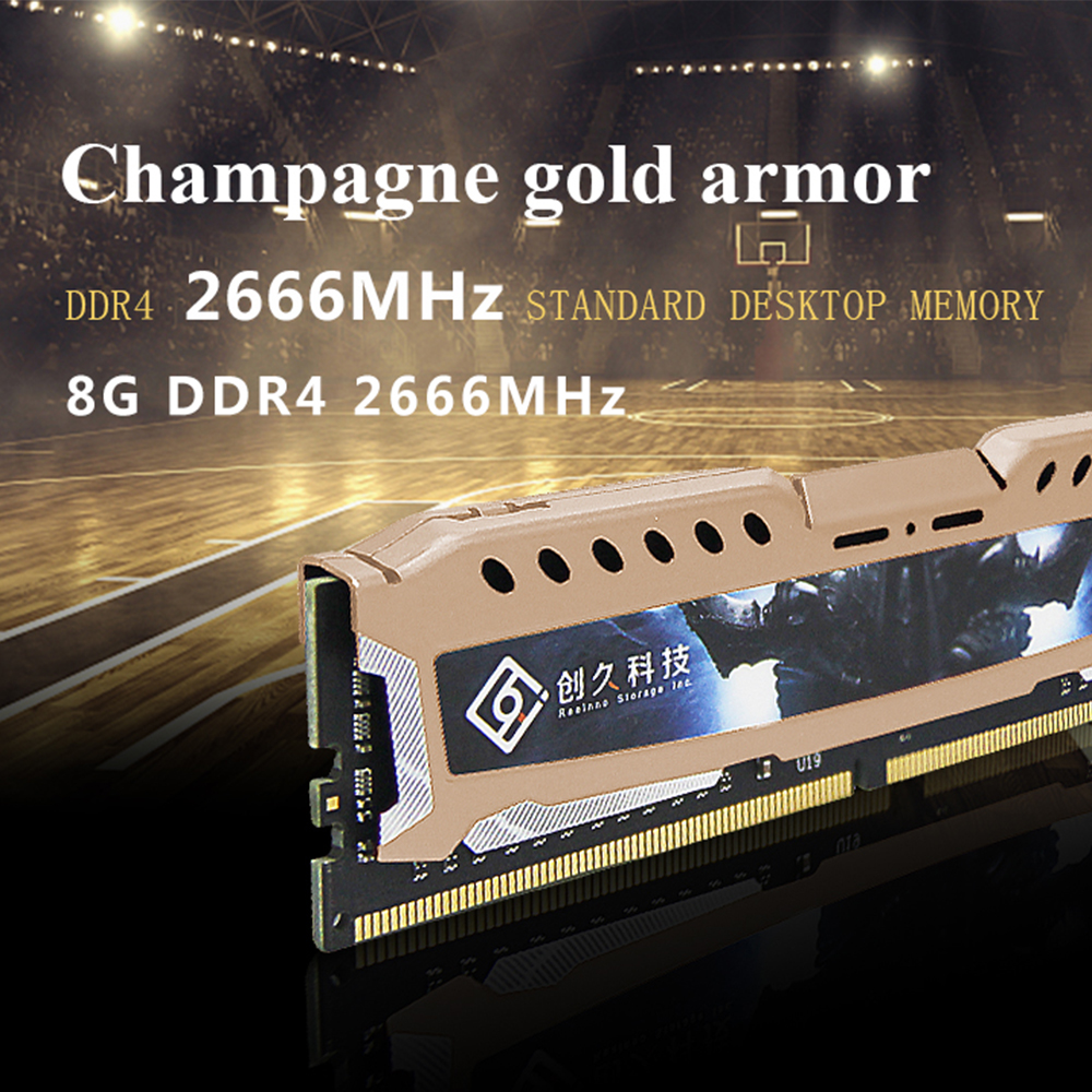 Reeinno ddr4 memoria ram ddr4 4GB / 8GB / 16GB 2400MHz desktop 1.2V 17-17-17-39 PC4-19200 CL 17 288pin 1