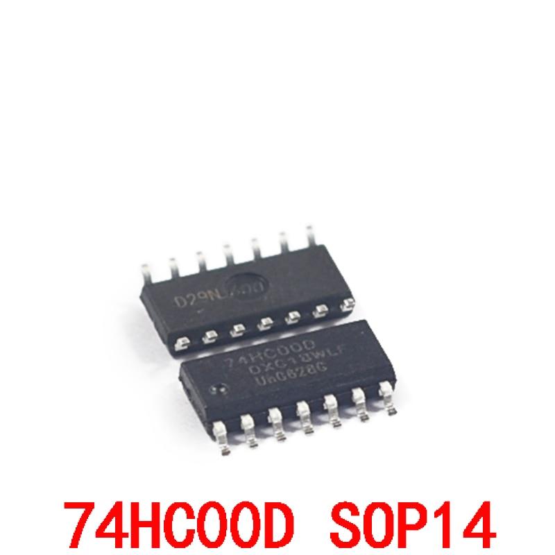 74hc00d 4-way 2-entrada e não porta smd sop14 chip (5 pces)