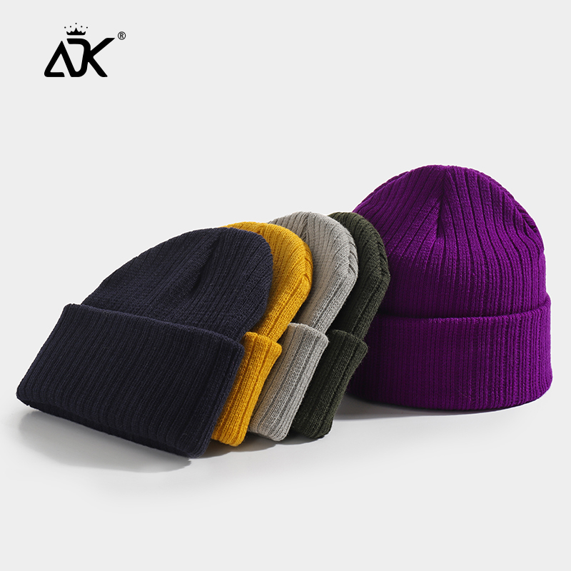 Unisex Hat Winter Beanie Ribbed Knitted Bonnet Soft Breathable Gorros Warm Brimless Hat Casual Stretchy Child Adult Beanie