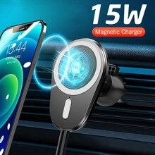 チーワイヤレス急速充電器カーマウントホルダースタンドiphone 12ミニ12プロマックス電話ドロップシェイプ磁気吸着充電