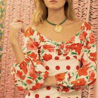 Boho Flower Girl Dress Boho For Women Long Sleeve Sunflower Hippie Boho Dress Women Hippie Clothing F0040