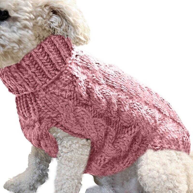 Cachorro quente gato camisola roupas inverno gola alta malha pet gato filhote de cachorro roupas traje para cães pequenos gatos chihuahua roupa colete 4