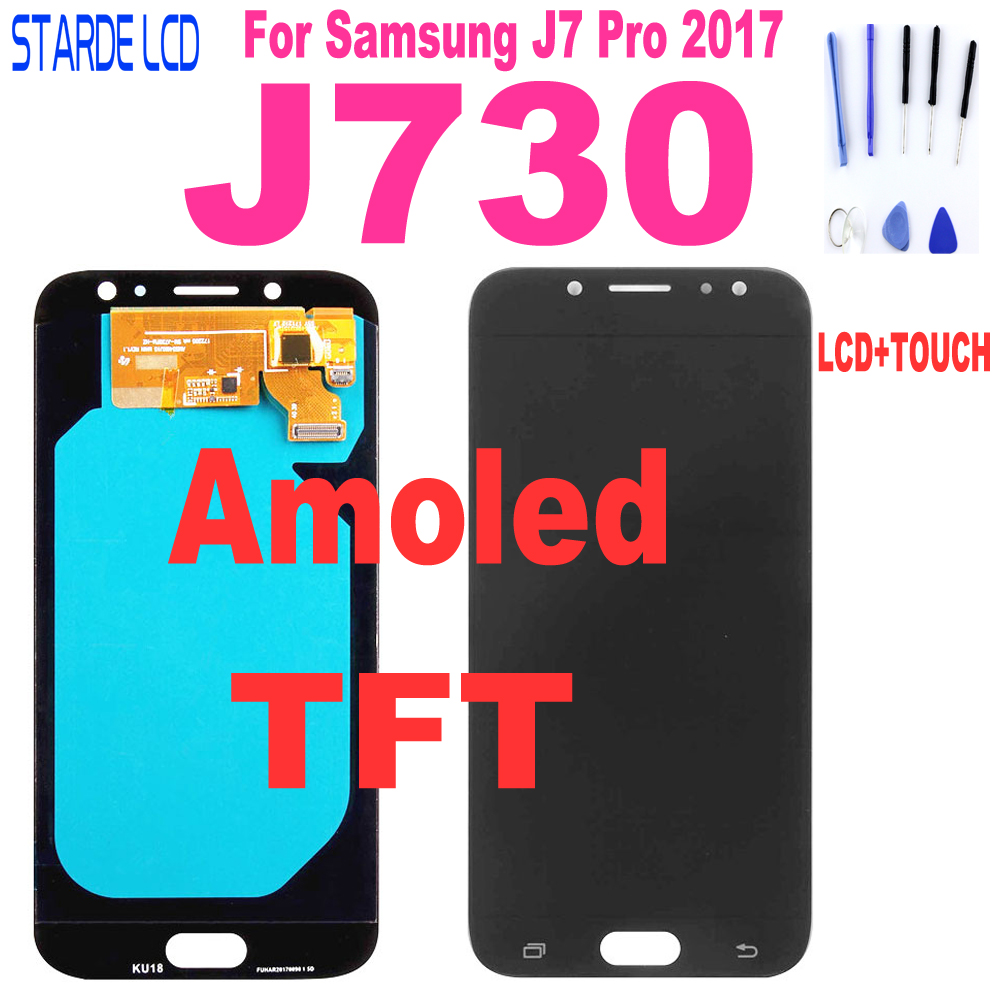 AAA+ J730 LCD For Samsung Galaxy J7 Pro LCD 2017 J730 SM-J730F J730FM/DS J730F LCD Screen With Touch Screen Digitizer Assembly