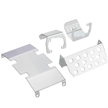 Stainless Steel Chassis Armor Protection Skid Plate for 1/10 RC Crawler Accessories Axial SCX10 II 90046/47 90059/60 F120BP ZXZ rc metal chassis armor axle protection skid plate for axial scx10 ii 90046 90047 1 10 rc crawler car upgrade parts