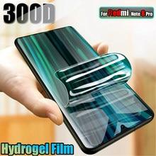 Filme de hidrogel 300d para xiaomi redmi nota 8 pro 7 9 protetor de tela para xiaomi redmi 8 8t 7 7a nota 9 pro 9 s k30 não vidro