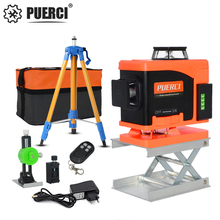 PUERCI NEW 16 Lines 4D Laser Level Self-Leveling 360 Horizontal And Vertical Cross Super Powerful Green