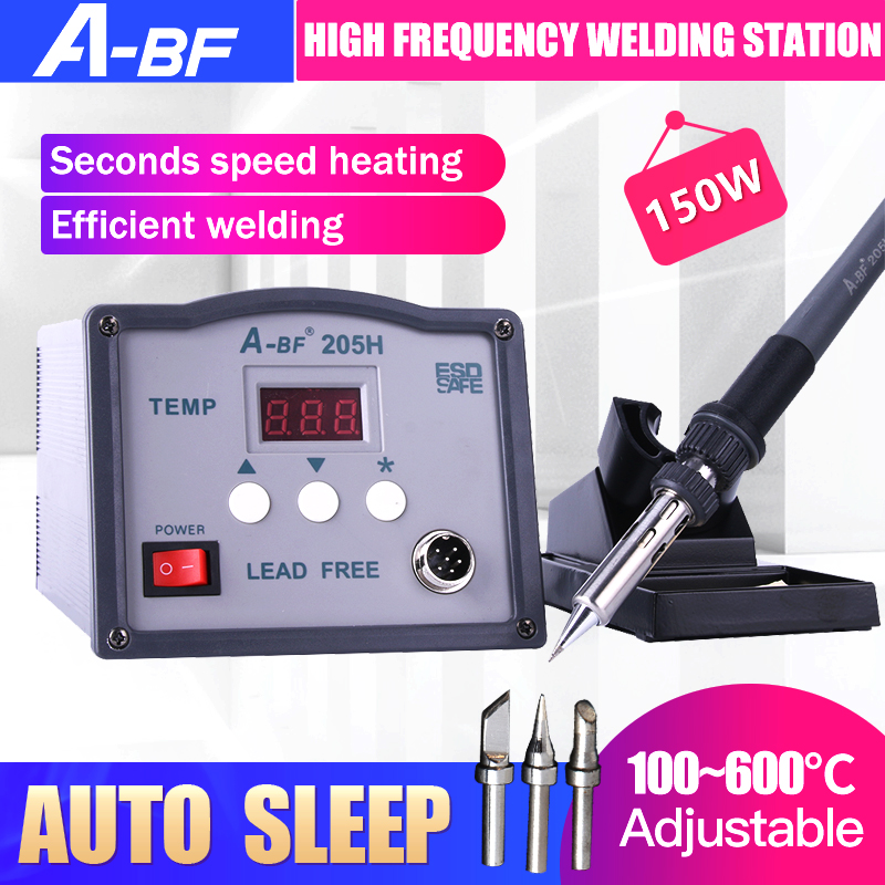 A-BF 205H Intelligent High-Frequency Welding Station Eddy Current Soldering Station 150W With Electric Soldering Iron