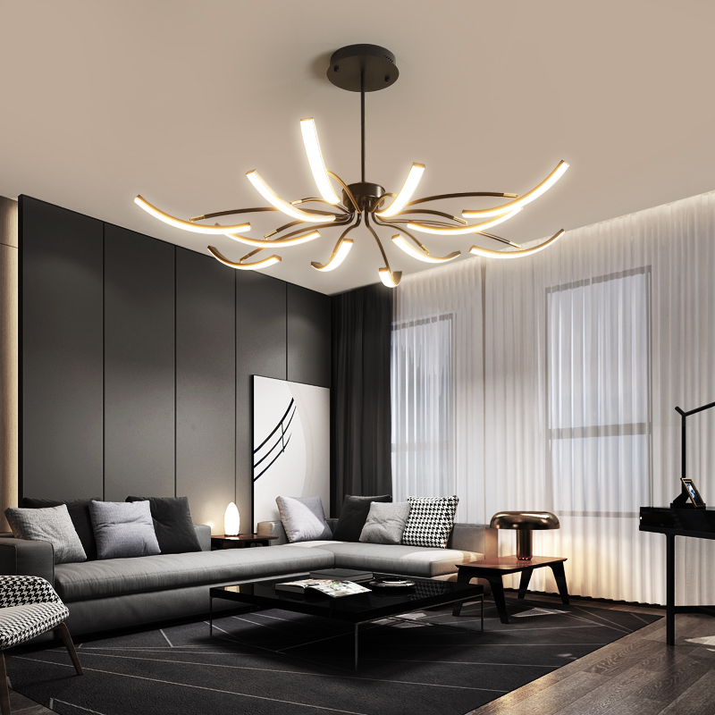 MDWELL Matte Black White Finished Modern Led Ceiling Lights for living room bedroom study room Adjustable New Led Ceiling Lamp