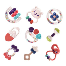 9Pcs Baby Rattle toys Colorful Set Montessori Toys Teething Kids Crib Mobiles animal toy Hand Bell for Stroller