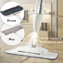 3-in-1 Water Spray Floor Mop Broom 360 Degree Handle for Wood Ceramic Tiles Floors Dust with Microfiber Washable Pad