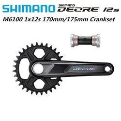 Shimano DEORE M6100 M6120 pédalier 1x12 vitesse 170mm 175mm 30T 32T roue à chaîne avec BB52 pièces de vélo d'origine Shimano