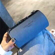 2019 New Women Bag Cylinder Shoulder Chian Crossbody Small