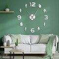 Пожарные пожарные  большие настенные часы «сделай сам»  табличка отдела огня  безрамочные тихие настенные часы