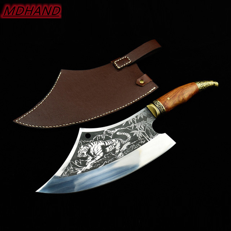 Household Hand Forged Sliced Chopping Knife Ghost Hand made Sharp Cleaver Arc Chef