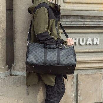 2020-korean-plaid-handbag-shoulder-bag-fashion-travel-bag-men-and-women-new-large-capacity-fashion-short-distance-travel-bag