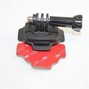Image 4 - Caméra accessoires Kit 360 degrés rotatif casque montage 3M autocollant adhésif pour Gopro Hero 7/6/5 XIaomi Yi SJCAM SJ4000 SJ5000