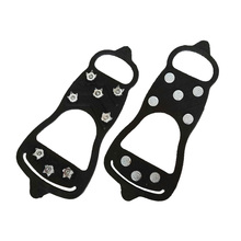8 Teeth Climbing Hiking Overshoe Cleats Crampons Ice Gripper Traction Outdoor Anti-slip Spikes