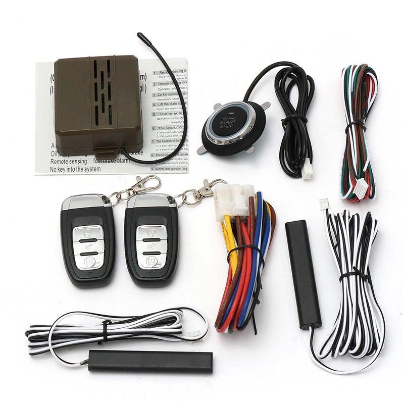 범용 자동차 엔진 시작 중지 suv 열쇠가없는 항목 엔진 시작 경보 시스템 푸시 버튼 원격 스타터 중지 자동차 자동차 액세서리
