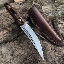 Top Quality Survival Straight Knife 58-60HRC D2 Blade G10 handleOutdoor Camping  Hunting Fixed cuchillo tactico militar EDC