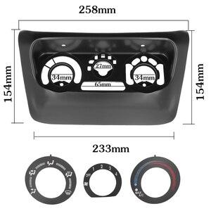 Image 2 - 2pcs AC Pannello di Controllo Autoradio Fascia per Mitsubishi Lancer IX 2006 Centro di Controllo Lettore DVD Trim Kit 2 din per la Radio