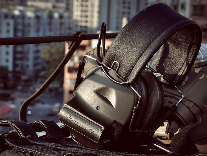 2 modos fone de ouvido tático para fotografar Z041-NEW