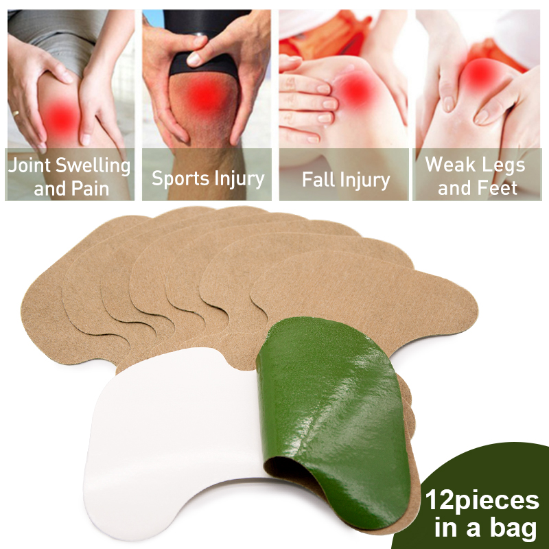 Sumifun 12Pcs Two Styles Knee Plaster Wormwood Extract Knee Pain Joint Rheumatoid Arthritis Chinese Herbal Medical Patch