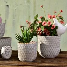 Round Silicone Mold Concrete Flowerpot Mould Handmade Craft Cement Planter Tool(China)