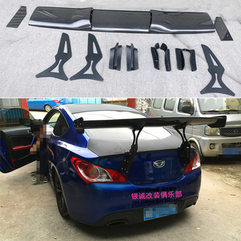 цена на Car Styling Carbon Fiber Material Rear Roof Spoiler Tail Trunk Wing Boot Lip Molding For Hyundai tiburon Genesis Coupe