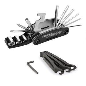 16-em-um multi-purpose bicicleta combinação reparação ferramentas de reparação de veículos acessórios de bicicleta de montanha conjunto de chave de reparo de pneus