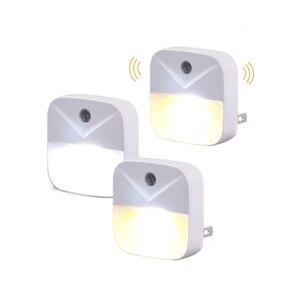 Image 5 - Plug in night light with Sensor Wireless Energy Saving Lighting children Living Room Bedroom safe convinent warm white Wall Lamp