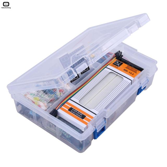 مجموعة أدوات التعلم الإلكترونية التي تعمل بنظام تحديد الهوية بموجات الراديو لألواح Arduino UNO R3 نسخة مطورة مع لوحة الخبز 830 ، LCD1602 IIC I2C