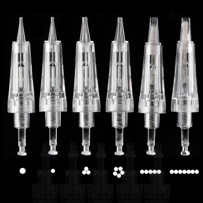 100pcs Bayonet Cartridge Needle 1D 1R 3R 5R 5F 7F , Permanent Makeup Needle For Makeup Tattoo Eyebrow