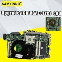 Atualizar 1gb vga + t7500 cpu grátis para For Asus k51ab k51af k70af k70ab k70ad placa-mãe do portátil mainboard 100% ok