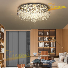 Nordic LED Crystal Luxury Ceiling Lamp Lighting Modern Light Luxury Ceiling Light Creative Living Room Bedroom Loft Ceiling Lamp modern minimalist golden led circular living room crystal lamp creative lamps atmospheric luxury hall ceiling lighting fixture