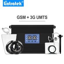 Lintratek עוצמה 2G 3G נייד אות מהדר 80dB גבוהה רווח UMTS 2100mhz GSM 900mhz טלפון סלולרי מגבר סט גדול כיסוי *