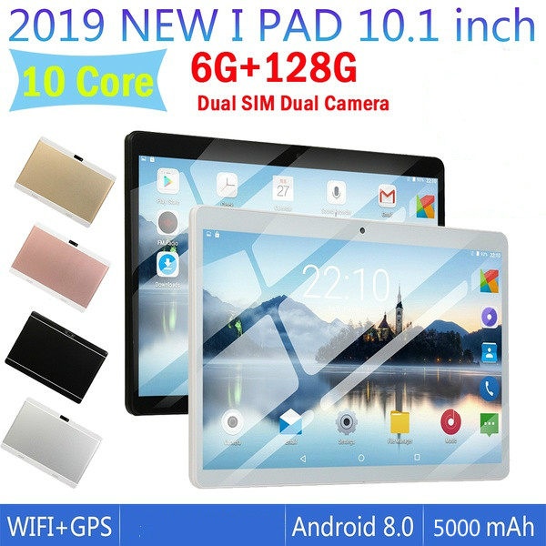 Tablet Pc 10 Inch Ten Core 6G+128G Android 8.0 WiFi 1280*800 Screen Tablet  Dual SIM Card Dual Camera Phone 4G Call Wifi Tablets